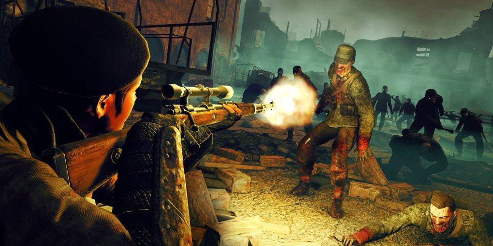 Zombie Army trilogiarako Switch portu sendoa da, baina baliteke zure lagunak ekarri behar izatea