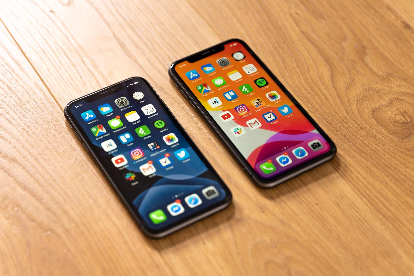 iOS 14 lehen filmean.  IPad-en multiataza menua iPhone-n dago orain