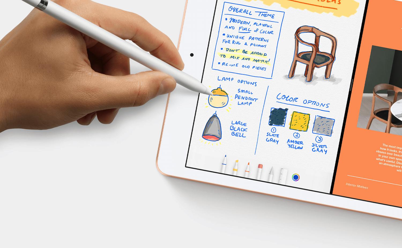 iPad bezalako papera eta estiloa keinu laguntzarekin. Apple Arkatza are erabilgarriagoa izango da